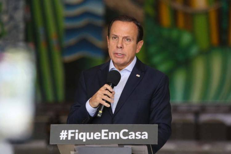 O Governador do Estado de São Paulo João Doria durante coletiva de imprensa sobre o Coronavírus. Dia: 01/04/2020 Local: São Paulo/SP  foto Sergio Andrade (Foto: Sergio Andrade)