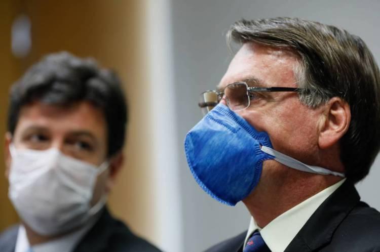 Presidente Jair Bolsonaro e o ministro da Saúde, Luiz Henrique Mandetta