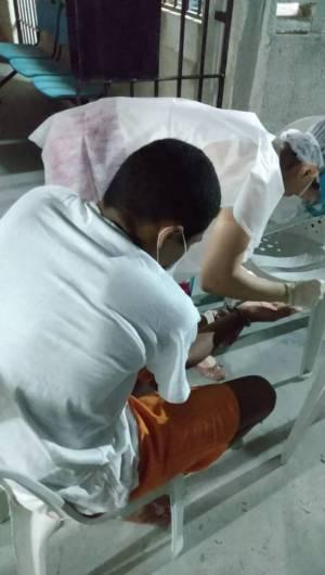 Exame em detento do sistema prisional de Ceará