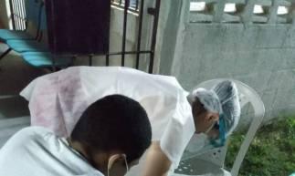 Exame em detento do sistema prisional de Ceará (Foto: Divulgação/SAP)