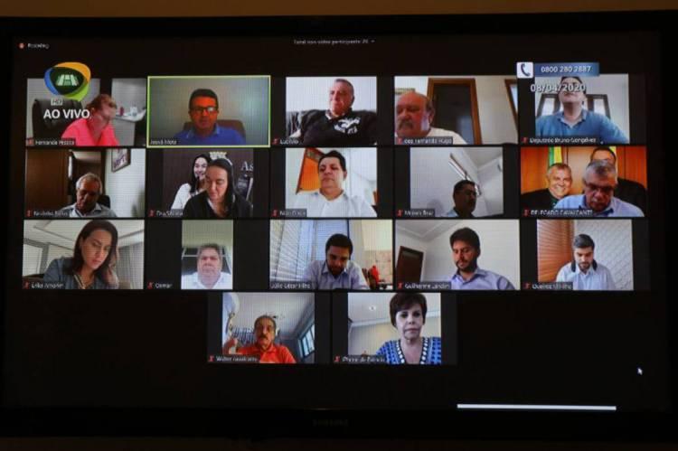 Imagem da sessão virtual do plenário da Assembleia Legislativa do Estado