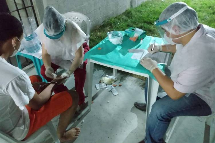 Itaitinga em 08 de abril de 2020, Imagens de exames em detentos do Sistema Penitenciário do Ceará. Na CPPL6, em Itaitinga, na Região Metropolitana de Fortaleza. (Foto: Divulgação/SAP)