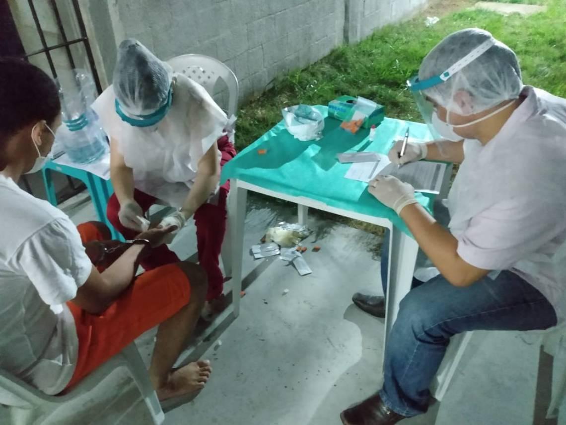 Itaitinga em 08 de abril de 2020, Imagens de exames em detentos do Sistema Penitenciário do Ceará. Na CPPL6, em Itaitinga, na Região Metropolitana de Fortaleza.