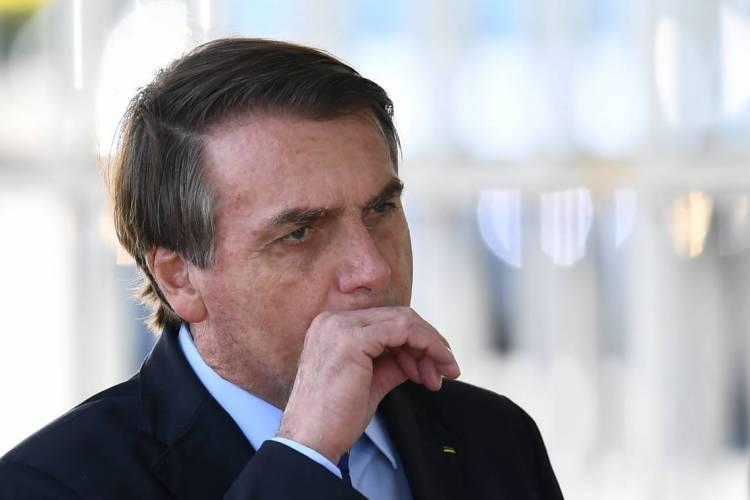 Presidente Jair Bolsonaro  POL 15.05.2020 (Foto: EVARISTO SA / AFP)