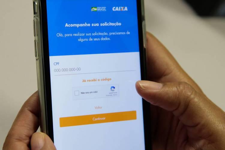 Brasilia em 07 de abril de 2020, Lançamento do aplicativo CAIXA|Auxílio Emergencial (Foto: Marcello Casal Jr/Agência Brasil)