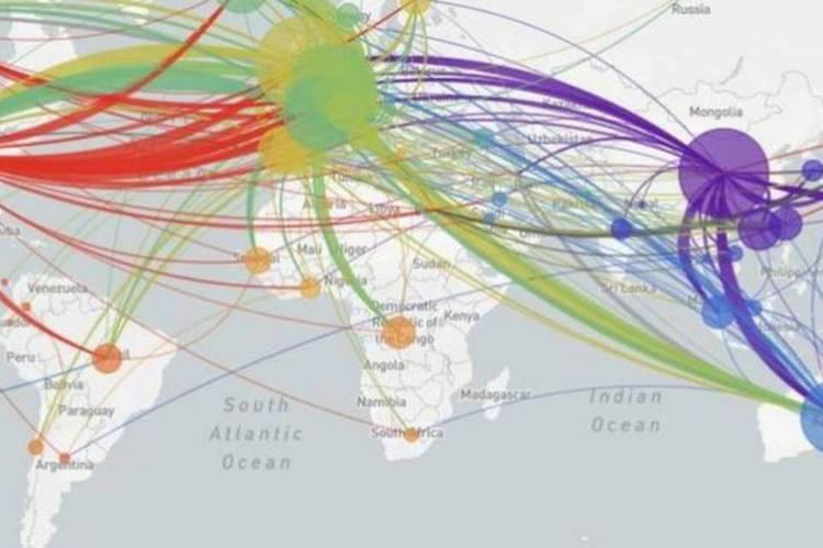 Site NextStrain apresenta mapeamento das variações genéticas do vírus e as conexões entre os casos ao redor do mundo