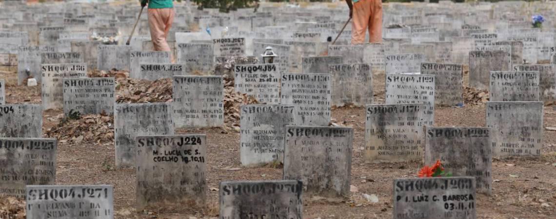 Cemitério do Parque Bom Jardim (Foto: Fabio Lima)