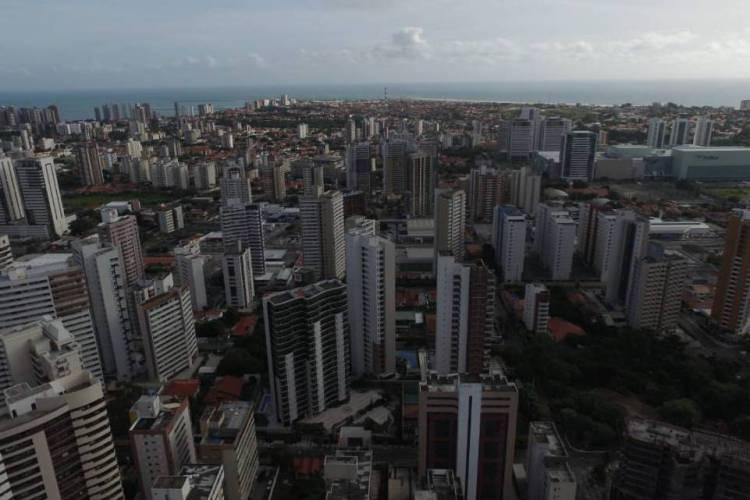 Imagem de Fortaleza feita por drone (Foto: DIVULGAÇÃO/Márcio Galvão)