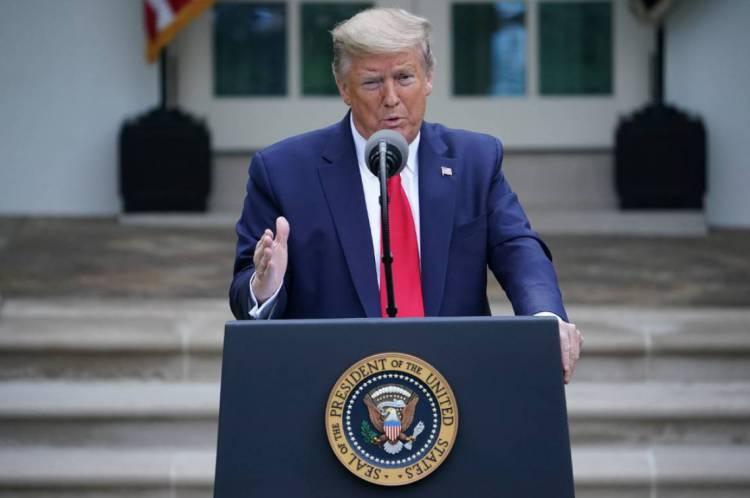 Presidente dos Estados Unidos, Donald Trump, em boletim do dia sobre coronavírus