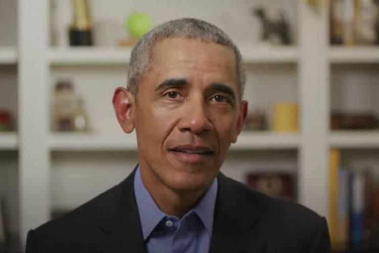 Obama parabenizou os amigos Joe Biden e Kamala Harris (Foto: AFP)