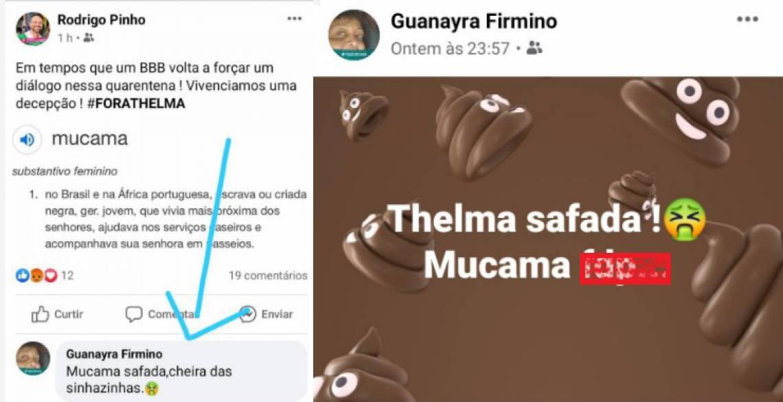 Print da rede social da vice-presidente da Mangueira