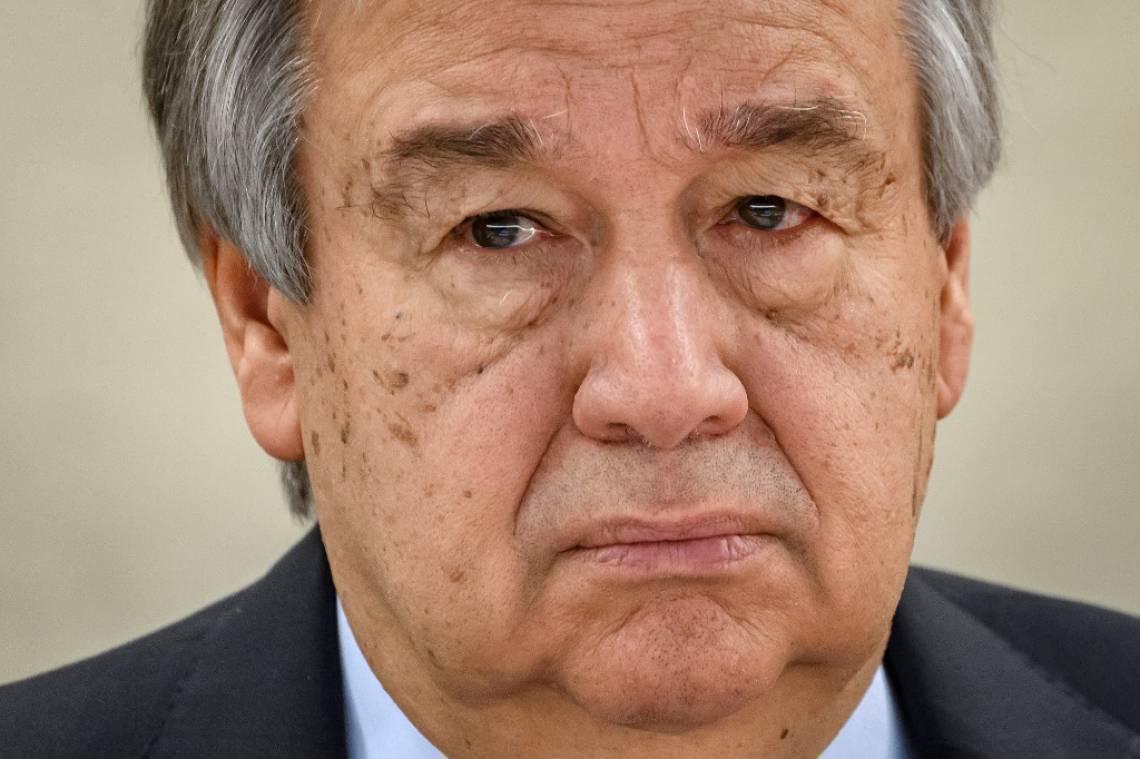 Secretário-geral da ONU, o português António Guterres