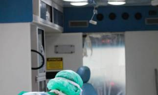 Hospital Leonardo Da Vinci voltado só para pacientes com Covid-19 (Foto: JÚLIO CAESAR)