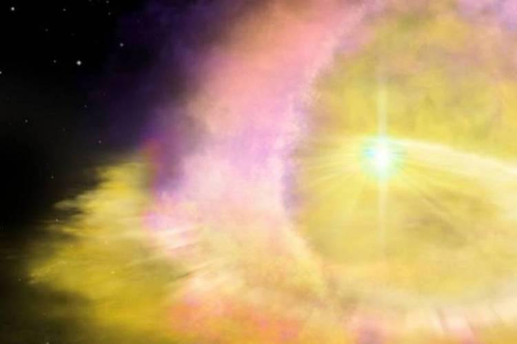 Ilustração da SN2016aps, supernova de quase quatro bilhões de anos