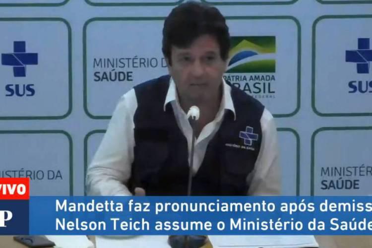 Luiz Henrique Mandetta se despediu do ministério (Foto: REPRODUÇÃO/FACEBOOK)