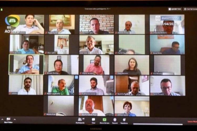 Sessões da AL-CE estão acontecendo remotamente (Foto: Reprodução)