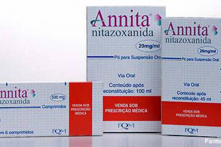 A Anvisa inseriu a nitazoxanida na lista de substâncias controladas, junto com a cloroquina (Foto: Divulgação/Farmoquímica)