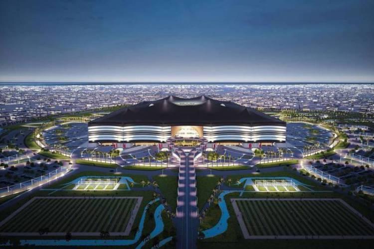 Um dos sete novos estádios para a Copa do Mundo do Catar  (Foto: AFP)