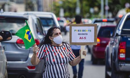 Carreata em Fortaleza pediu volta do AI-5