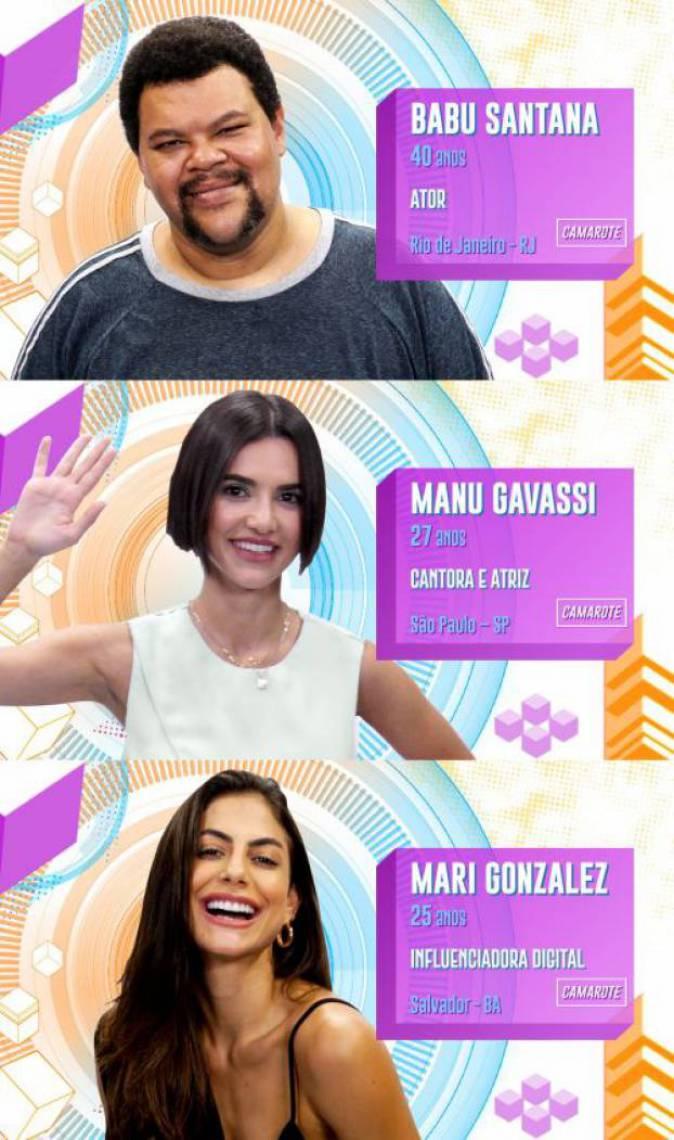 Babu, Manu e Mari estão no paredão do BBB 20. Vote na enquete e escolha quem você quer eliminar
