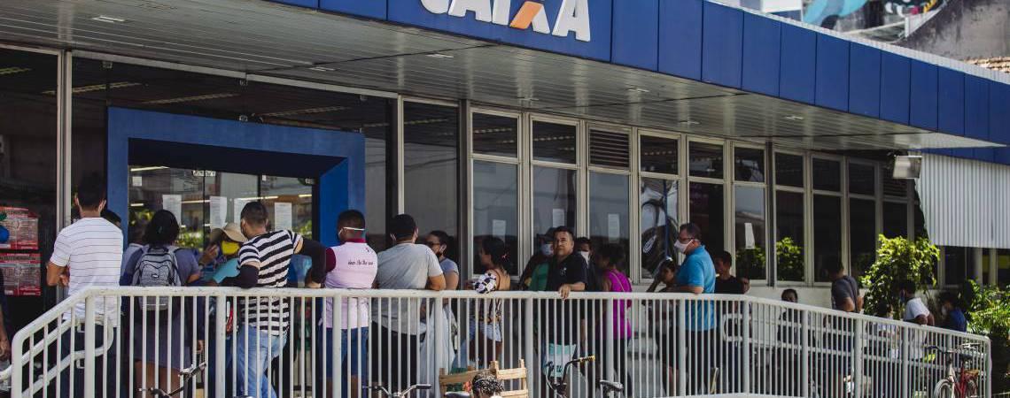 Agências em Fortaleza não terão atendimento, tendo apenas o caixas eletrônicos funcionando  (Foto: Aurelio Alves/O POVO)