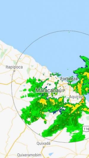 Radar da chuvas para Fortaleza e RM