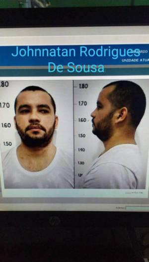 Johnnattan Rodrigues de Sousa, 28, fugitivo do Centro de Triagem e Observação Criminológica (CTOC). Foto: Ascom/SAP