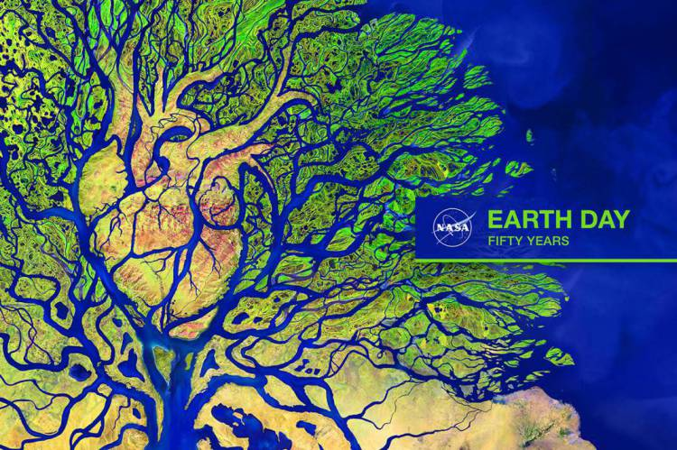 The art, released by Nasa to commemorate the 50th anniversary of the Day on the Ground