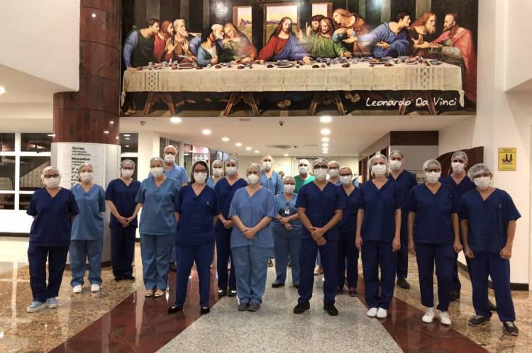 Profissionais de saúde do Hospital Leonardo da Vinci