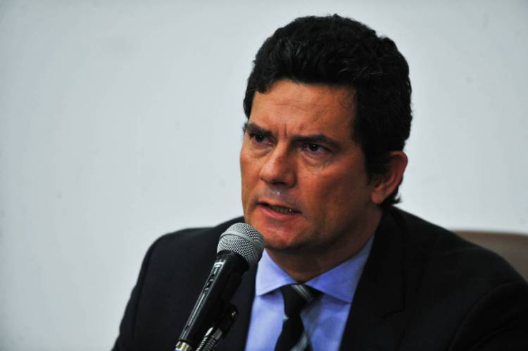 Brasilia em 24 de abril de 2020, O ministro da Justiça e Segurança Pública, Sergio Moro, fala à  imprensa. ( Foto: Marcello Casal Jr/Agência Brasil)