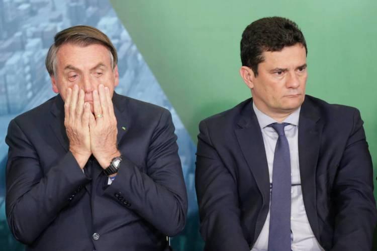 POLÍCIA FEDERAL incluiu troca de mensagens entre Bolsonaro e Moro em relatório enviado ao STF (Foto: GABRIELA BILO/AE)