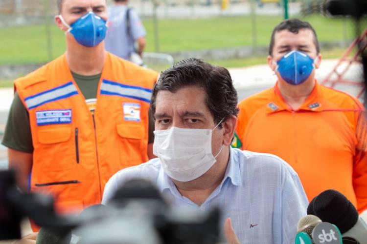 Secretário da Saúde do Estado, Carlos Roberto Martins Rodrigues Sobrinho (Cabeto), diz que a meta é chegar próximo de 100 mil testes realizados. (Foto: JÚLIO CAESAR)