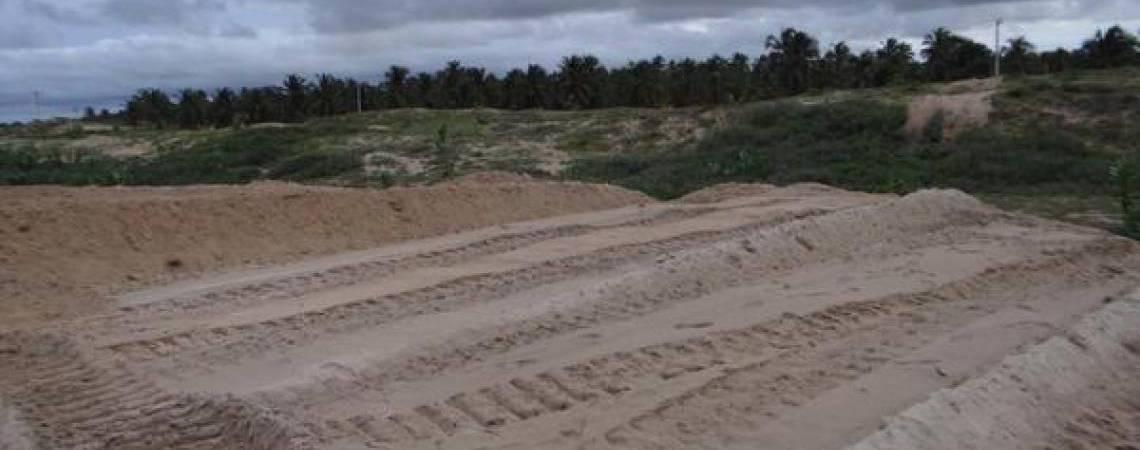Parte da paleoduna já foi terraplanada