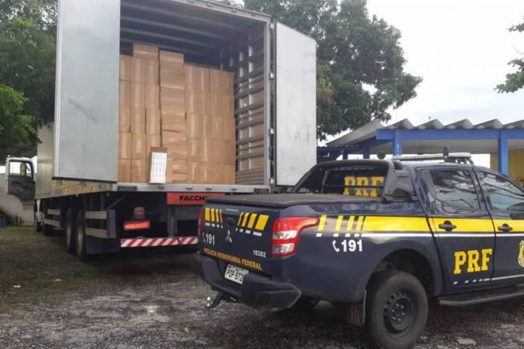 Crime de contrabando foi frustrado pela PRF em São Gonçalo do Amarante