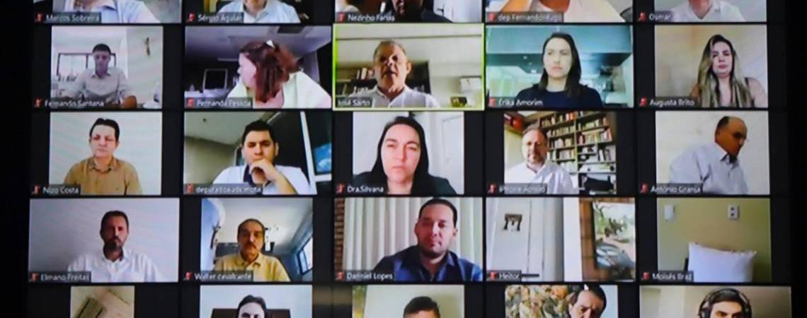 Sessão virtual da Assembleia Legislativa (Foto: Divulgação / AL-CE)