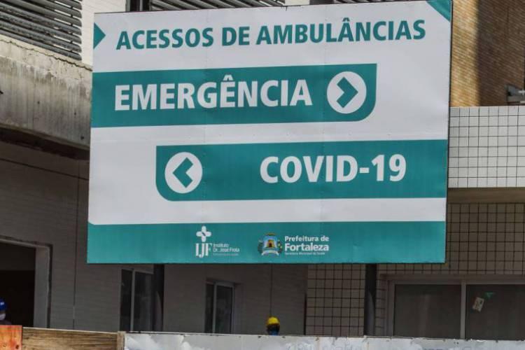 IJF instalou setor para pacientes de Covid-19 (Foto: Aurelio Alves/O POVO)