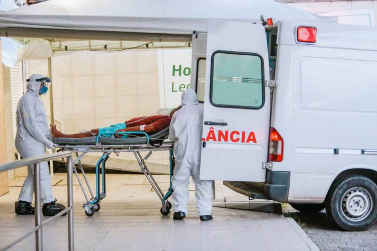 Hospital Leonardo da Vinci: assistência intensiva para pacientes de Covid-19 (Foto: Julio Caesar)