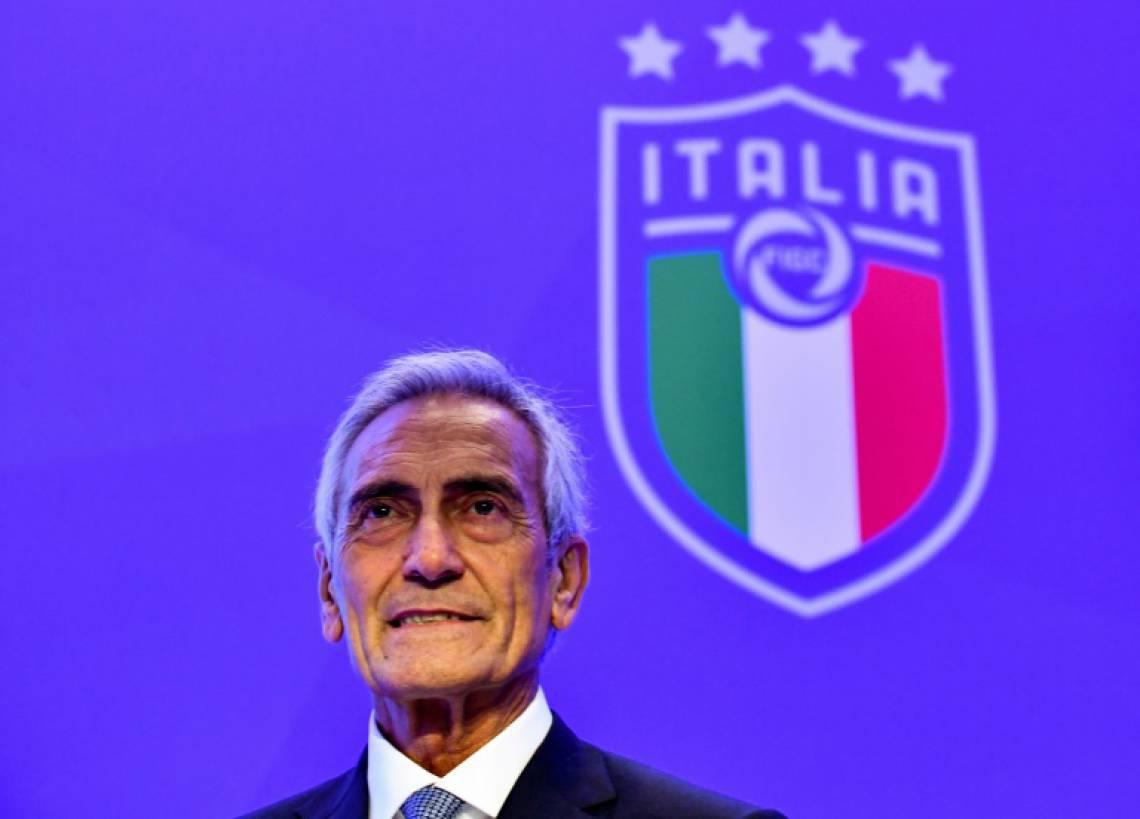 Gabriele Gravina é o presidente da FIGC, a federação italiana de futebol