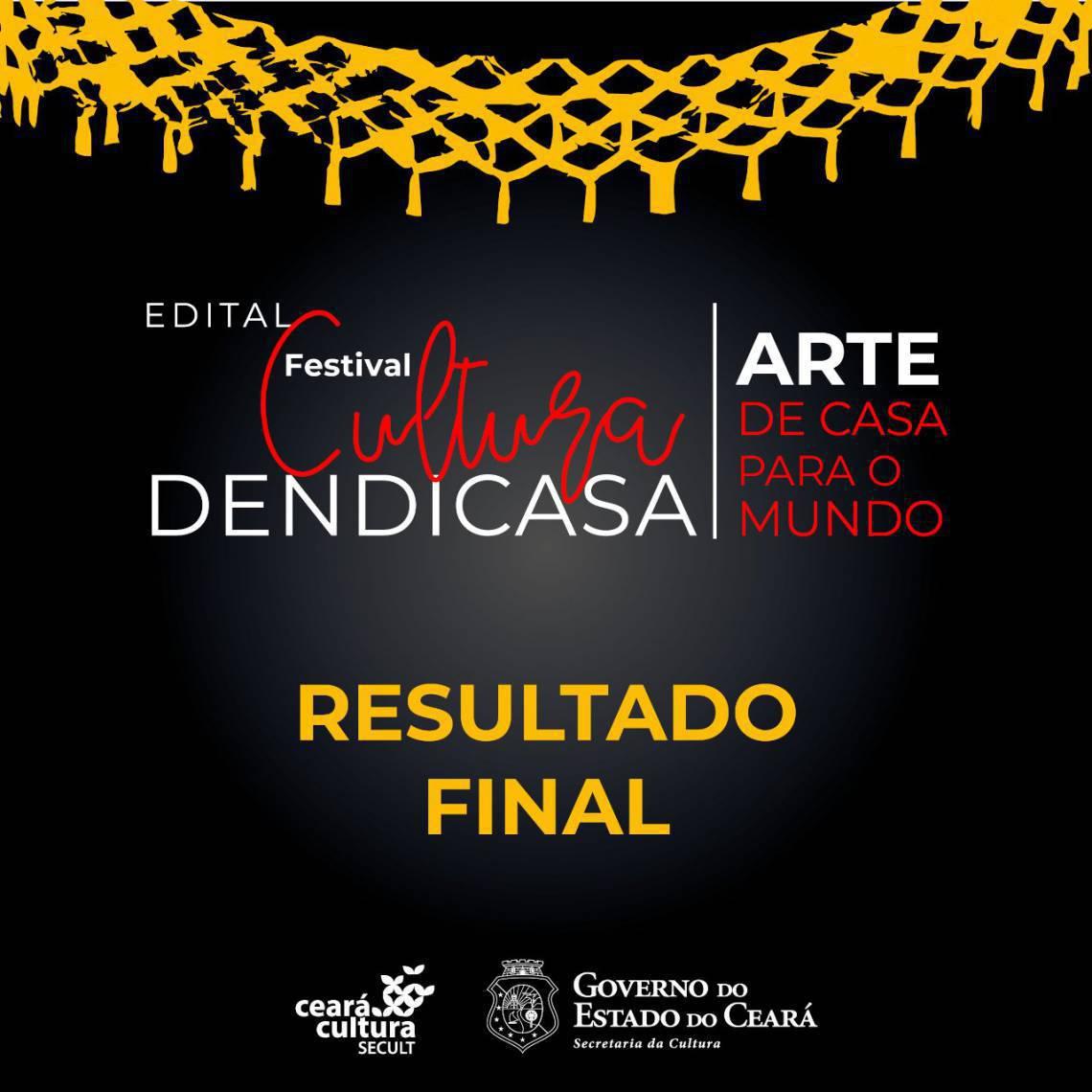 Secult divulga resultado do edital Festival Cultura DendiCasa