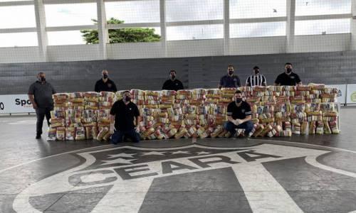 Campanha Vozão do Bem já teve primeira doação de alimentos, com mais de duas toneladas
