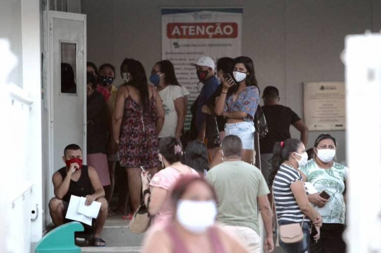 Grande movimentação na UPA do bairro Vila Velha neste domingo, 3