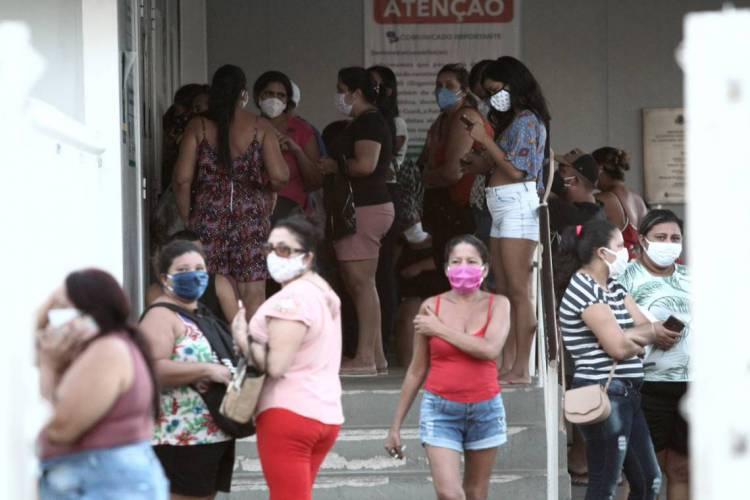 Grande movimentação na UPA do bairro Vila Velha  (FABIO LIMA /O POVO) (Foto: FABIO LIMA /O POVO)