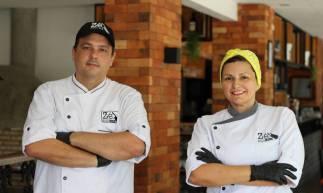 Os chefs Zé Vitor Gurgel e Jeanine Gurgel comandam o restaurante Zé Restrô Bar