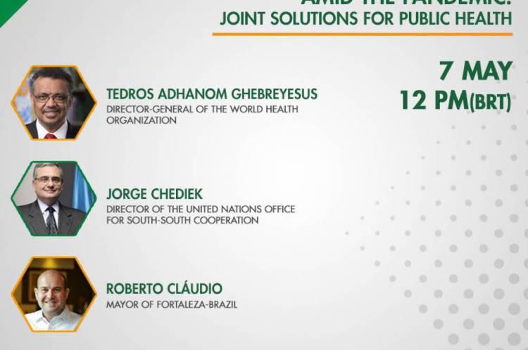 Seminário virtual do Instituto Brasil África discute soluções conjuntas para Saúde Pública e conta com a presença do diretor geral da OMS e do prefeito de Fortaleza