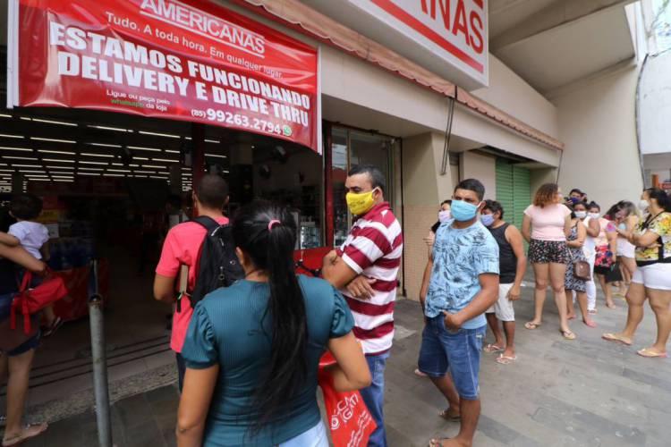 Lojas Americanas do Centro de Fortaleza  (Foto: Fabio Lima)