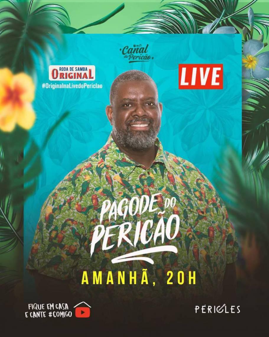 Acompanhe a agenda de transmissões ao vivo online - live - de artistas nacionais e internacionais para hoje, quinta-feira, 7 de maio (07/05); o cantor Péricles é uma das atrações da noite