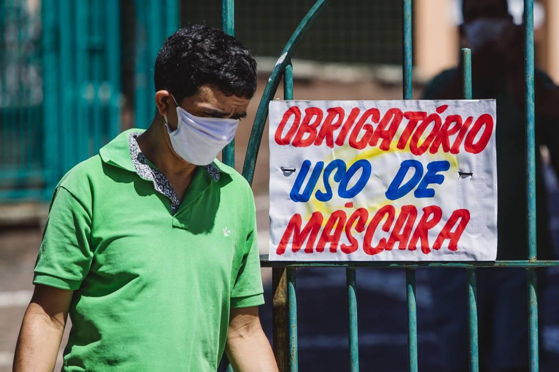 Uso de máscara passou a ser obrigatório na Capital (Foto: Aurelio Alves/O POVO)