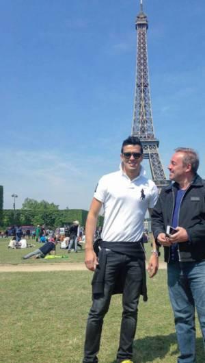 Foto nas redes sociais de Thiago mostra Gugu e o chef em Paris