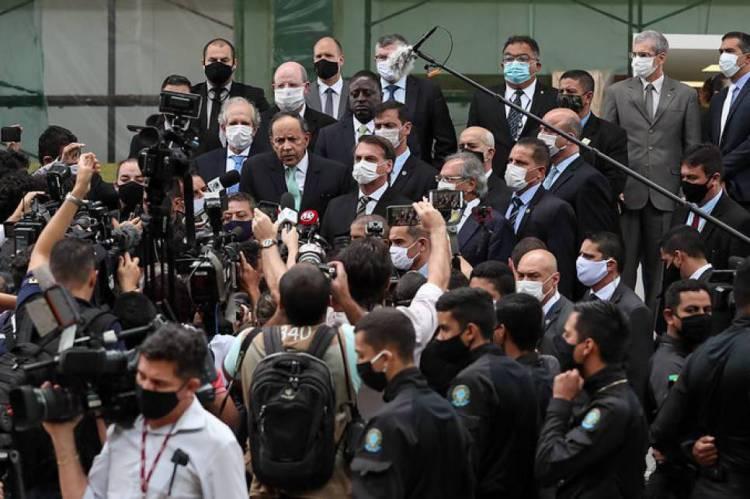 Conversa com imprensa após a reunião no STF.
