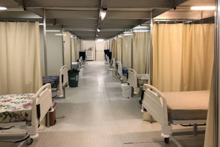 Hospital São José inaugura 25 leitos de enfermaria com pontos de oxigênio. A expansão soma-se a 90 leitos de internação já existentes (Foto: Divulgação / Secretaria Saúde do Ceará)